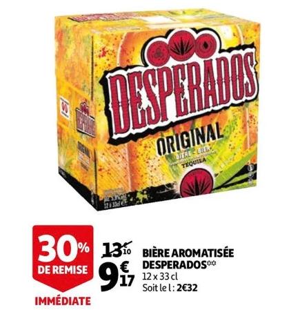 Paquet de 12 Bières aromatisées Desperados - 12x 33CL