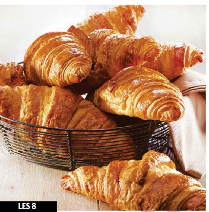 Lot de 8 croissants pur beurre (8x40g)