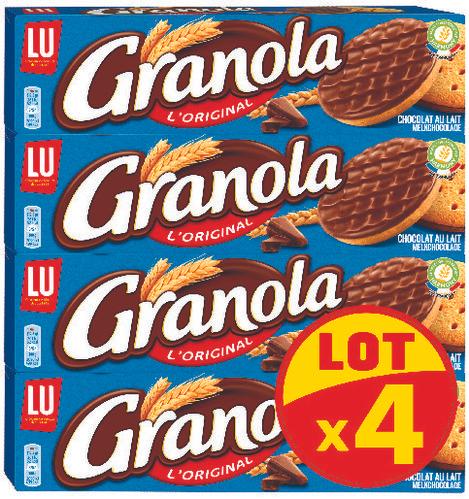 2 Lots de 4 paquets de Granola - 8 x 200g