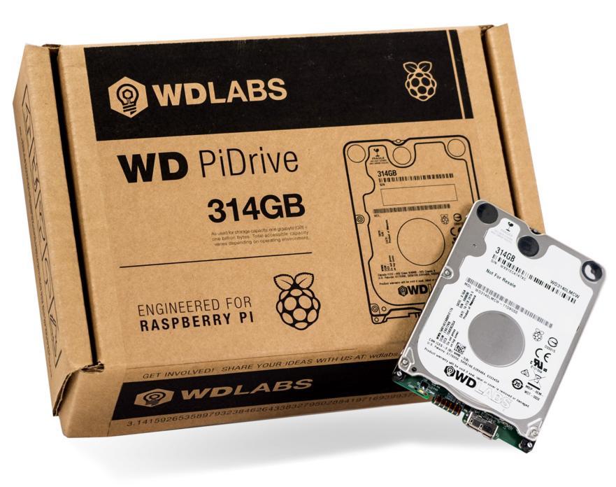 Disque dur Western Digital Pi Drive 314 Go (7mm d'épaisseur)