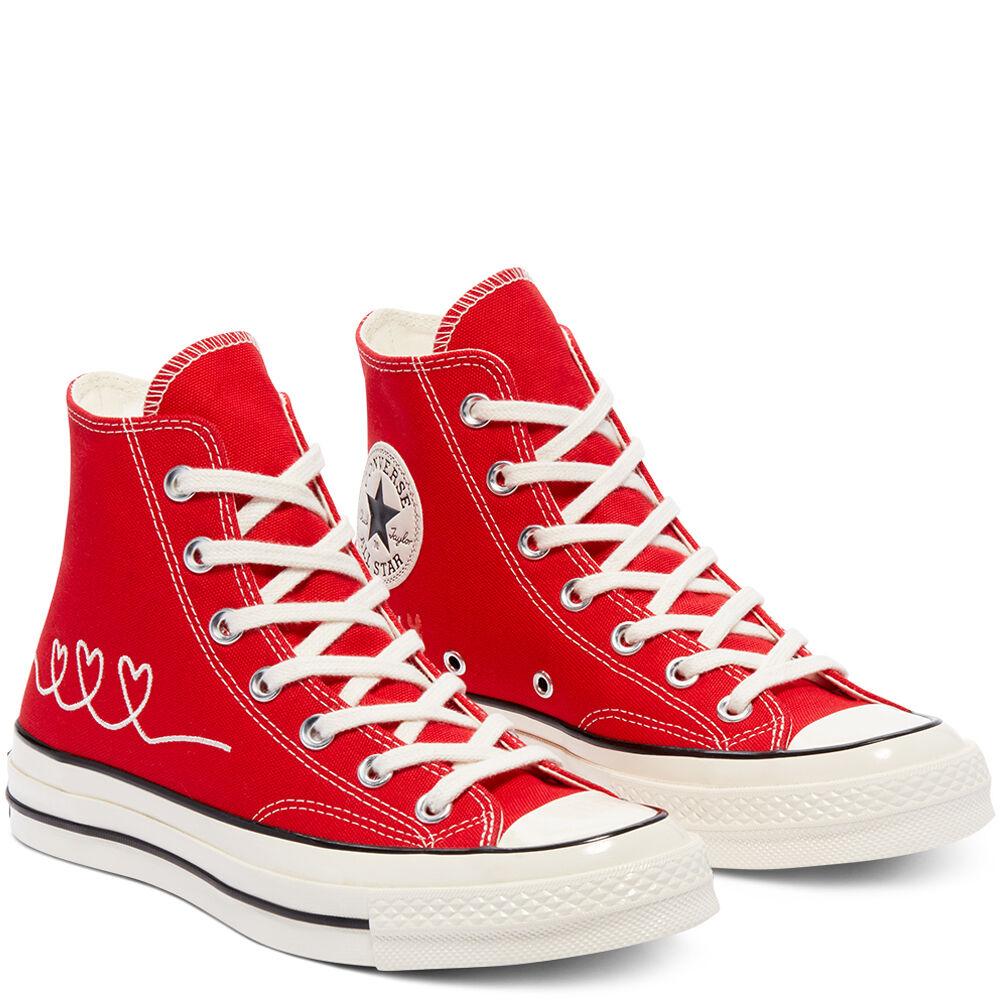 Chaussures montantes Converse Love Thread Chuck 70 - Rouge ou Noir