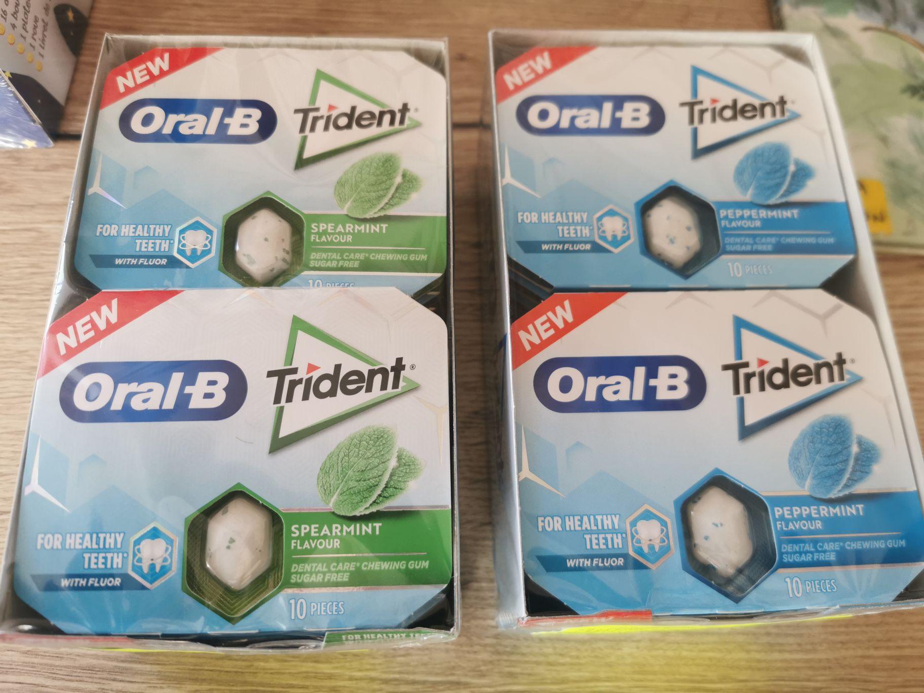 Lot de 12 paquets de chewing-gum Oral-B Trident (12 x 17g) - Meximieux & Ambérieu en Bugey (01)