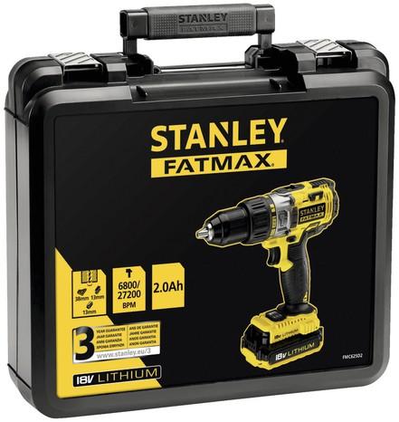 Perceuse à percussion (18 V) + 2 batteries (2 Ah) Stanley Fatmax