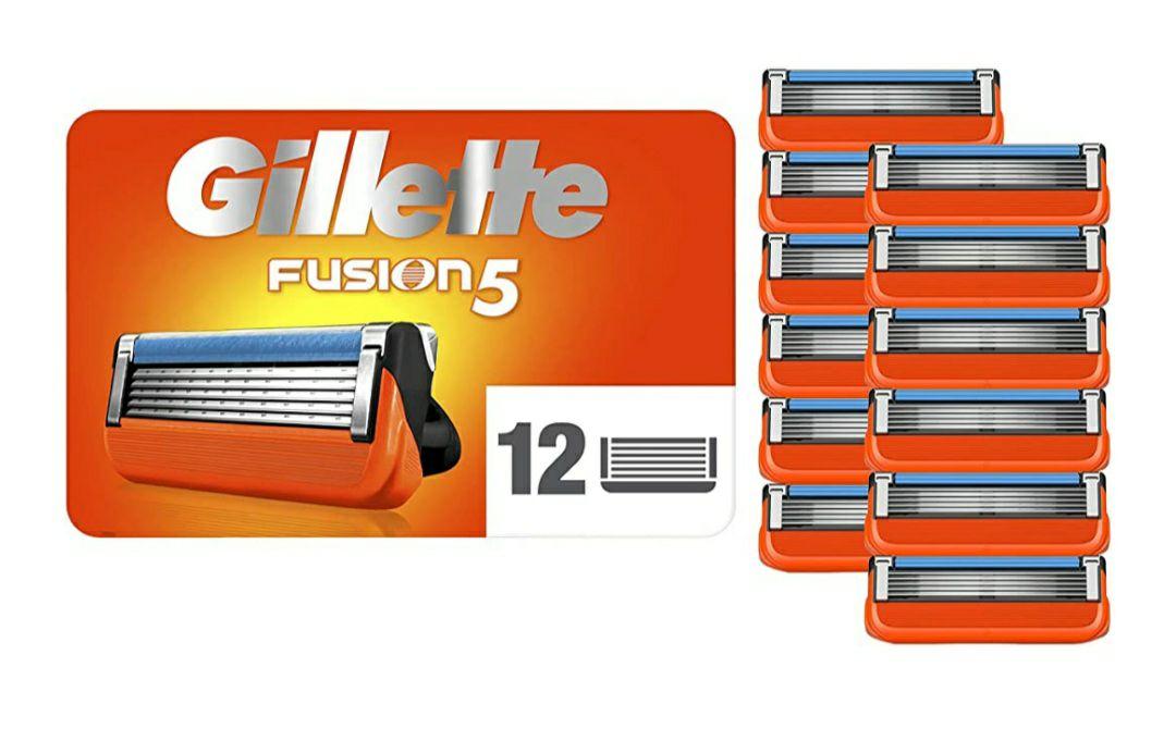 Pack de 12 lames de rasoir Gillette Fusion5