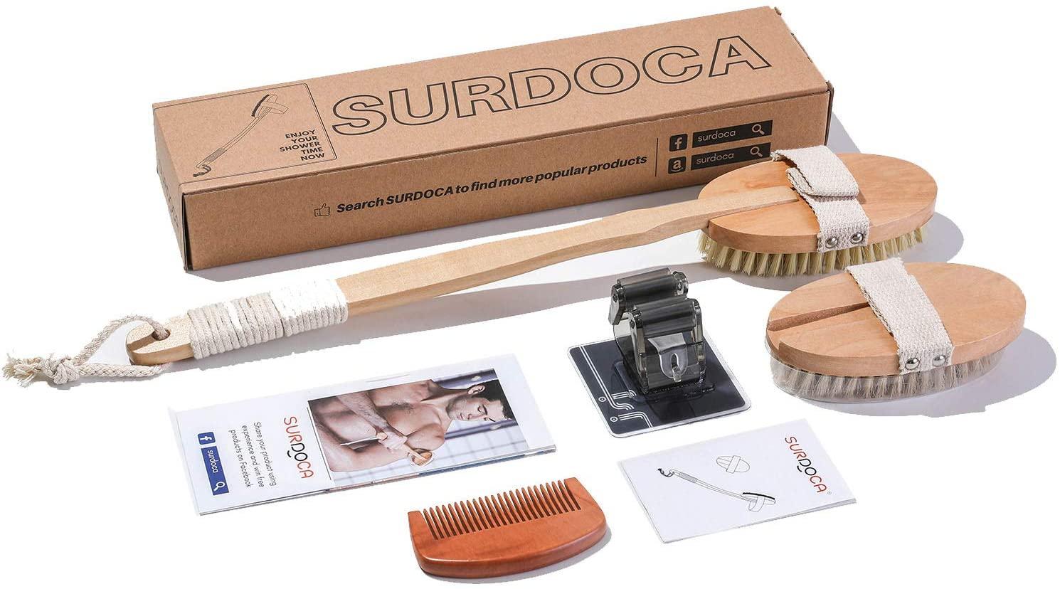 Ensemble de brosses de bain en bois pour le corps Surdoca (Vendeur tiers)