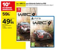 Jeu WRC 9 pour PS5 ou Nintendo Switch