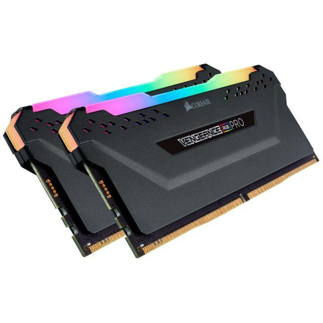Kit Mémoire DDR4 Corsair Vengeance RGB Pro 16 Go (2x 8 Go) - 2933 MHz, CL16