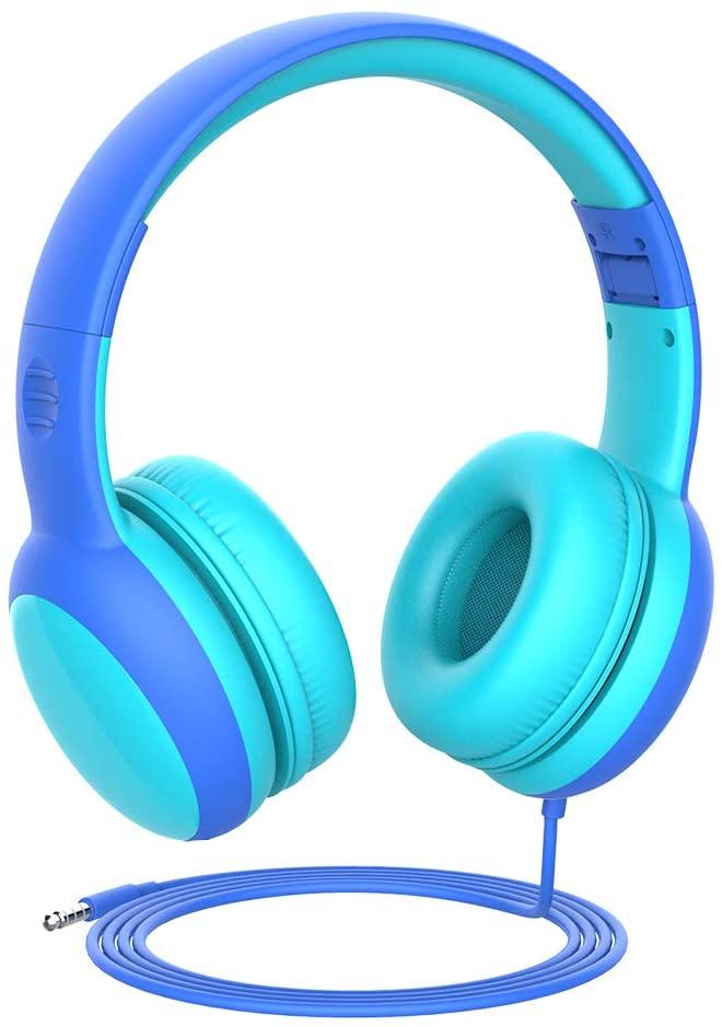 Casque Audio Enfant - Bleu, Rose ou Violet, avec Limiteur de Volume (Via coupon - Vendeur tiers)