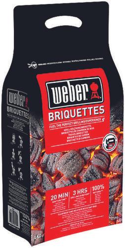 Lot de 3 sacs de 4kg de Briquettes de charbon de bois Weber - 3 x 4kg (Magasins participants)