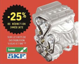 Sélection de promotions sur l'automobile - Ex: 25 % de réduction immédiate sur les kits de distribution Lucas et SKF.