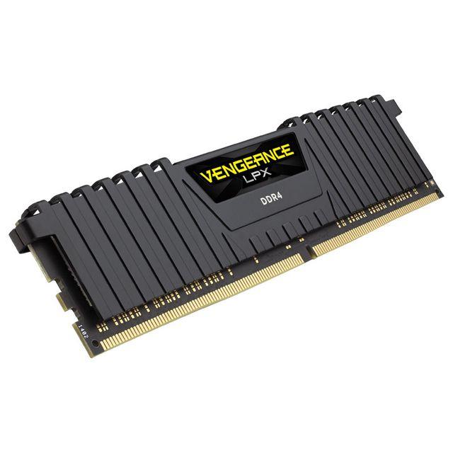 Barette mémoire RAM Corsair Vengeance LPX CMK16GX4M1A2666C16 - 16 Go, DDR4, 2666 MHz, CL16, Noir