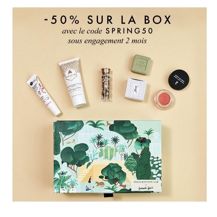 50% de réduction sur la box beauté d'avril - engagement 2 mois (prescriptionlab.com)
