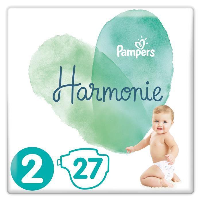 Lot de 3 paquets de Couches Pampers Harmonie (Taille 2)