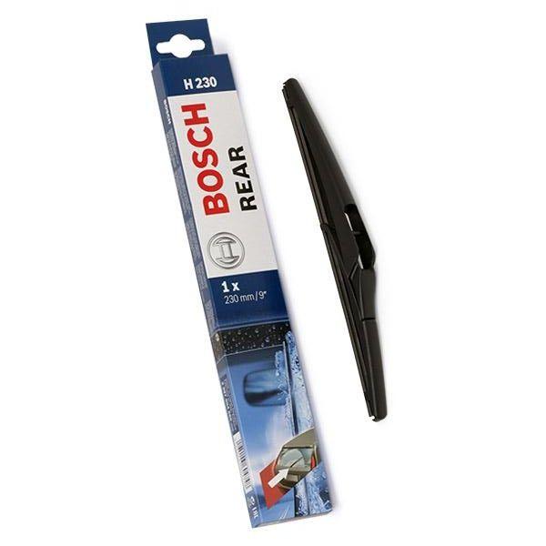 Sélection de balais d'essuie–glace arrière Bosh en promotion - Ex: Balai d'essuie–glace arrière H230 (Compatible Renault, Peugeot, Opel...)