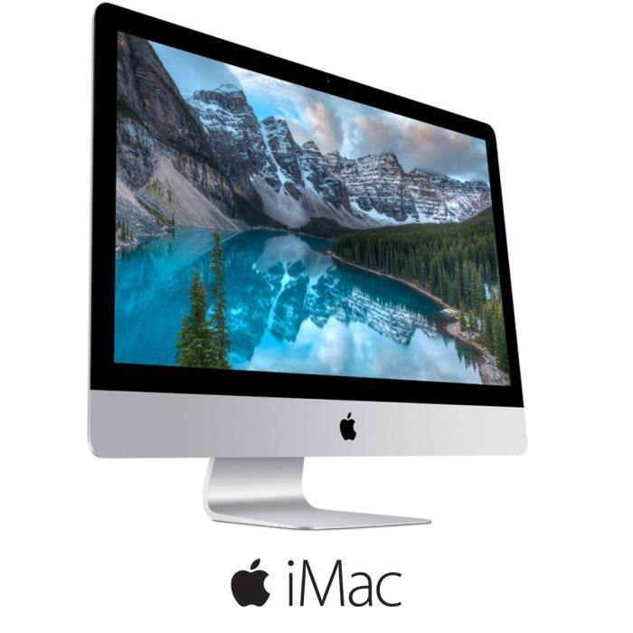 "PC de bureau 27"" Apple iMac MF125F/A - Intel i7, 8Go de RAM, 3 To, Geforce GTX 780M + 440€ en bon d'achat"