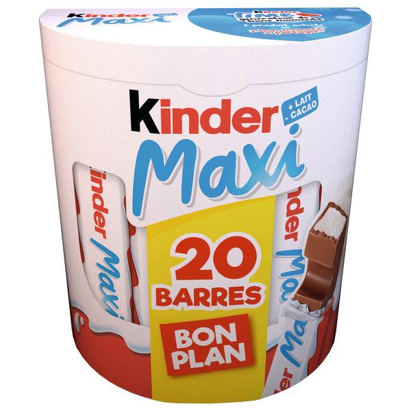 Boite de Kinder Maxi - 20 barres (via 1,53€ sur la carte de fidélité)