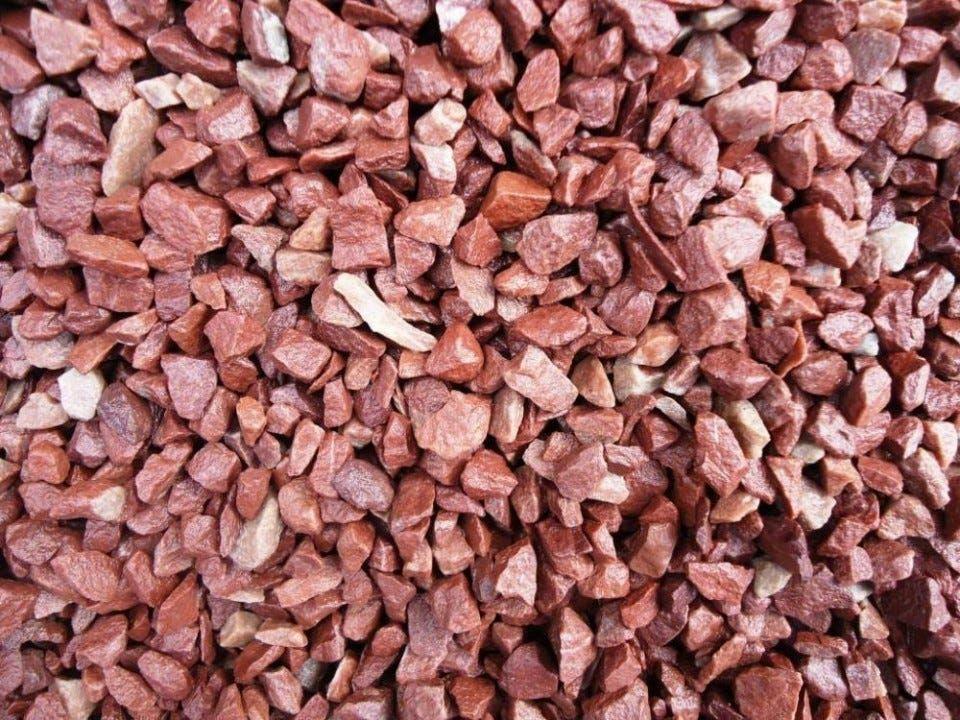 Gravier calcaire rouge 6/10 (Via retrait dans une sélection de magasins - lamaison.fr)