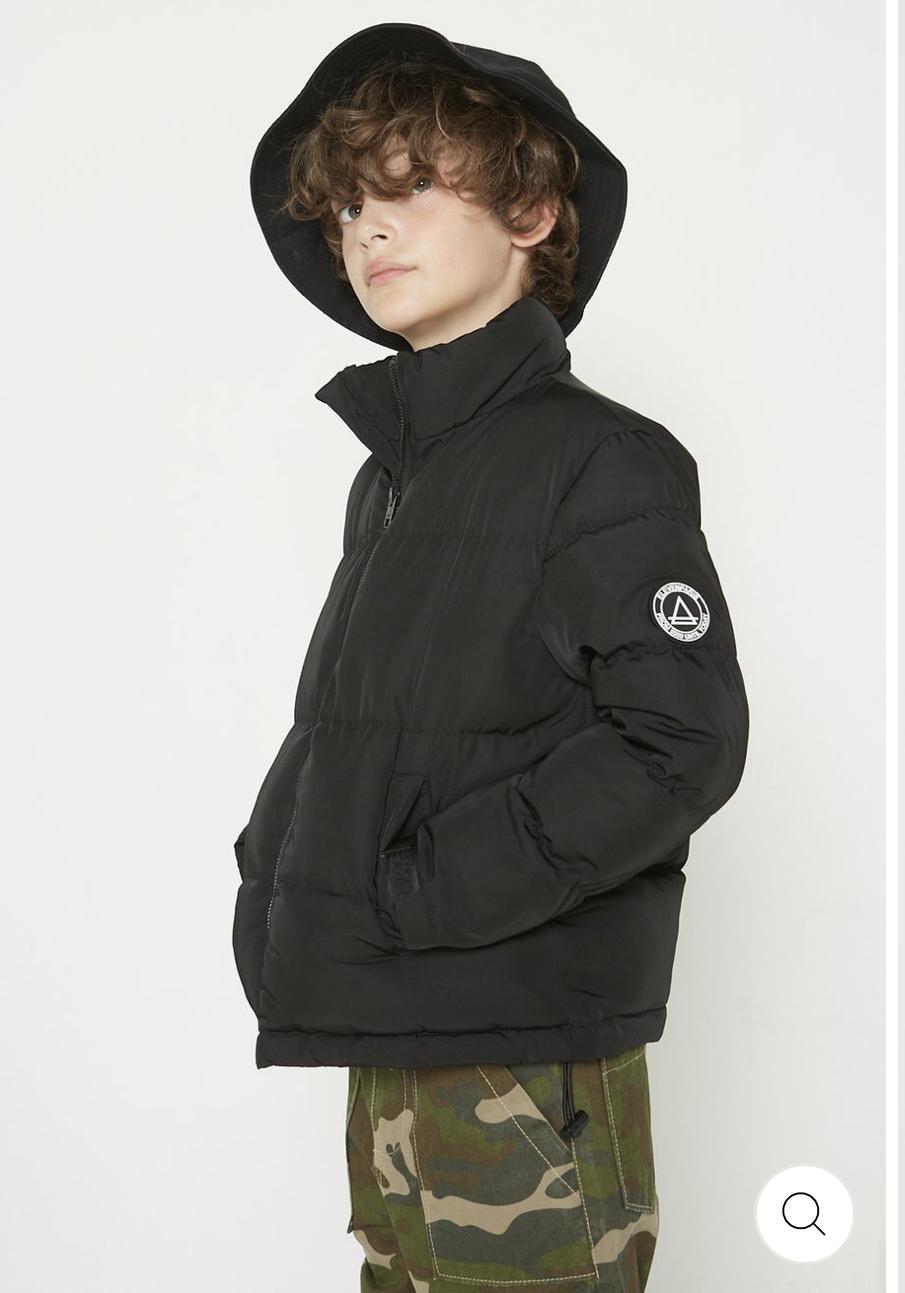 Manteau pour enfant Outwear Liam - Noir, Tailles 4 à 14 ans (elevenparis.com)