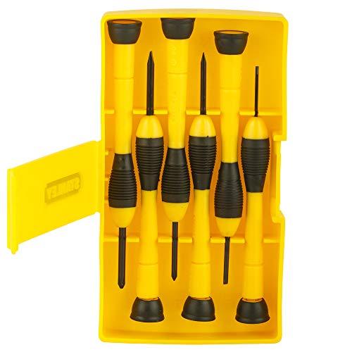 Lot de 6 tournevis de précision STANLEY 0-66-052 -1.4 mm, 2 mm, 2.4 mm, 3 mm, 0pt, 1 pt