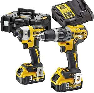 Kit Dewalt dck266p2t-gb - perceuse DCD796 et visseuse à choc DCF887 XR Brushless 18v + 2 Batteries 5ah + Chargeur + TSAK