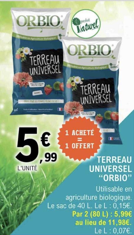 2 sacs de terreau universel Orbio (2x40 L)