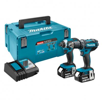 Pack 2 outils Makita DLX2127TJ (perceuse DDF482 + visseuse à chocs DTD152) - 18 V Li-Ion + 2 batteries 5 Ah + coffret Makpac + chargeur