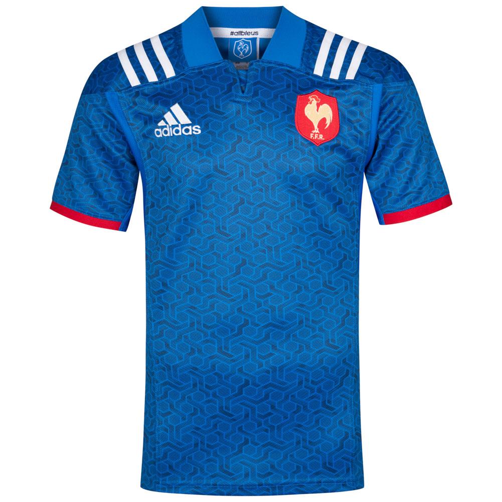 Maillot de l'équipe de France de rugby domicile Adidas (Tailles au choix)