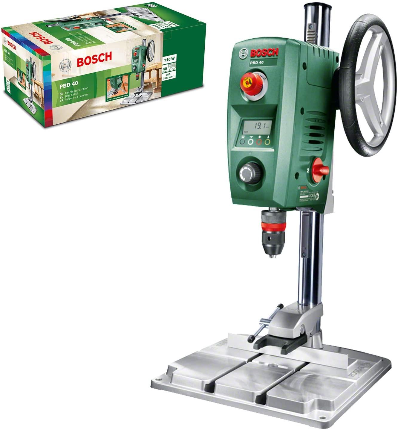 Perceuse à colonne Bosch PBD40 - 710W, avec butée parallèle & pince à serrage rapide (Via coupon)