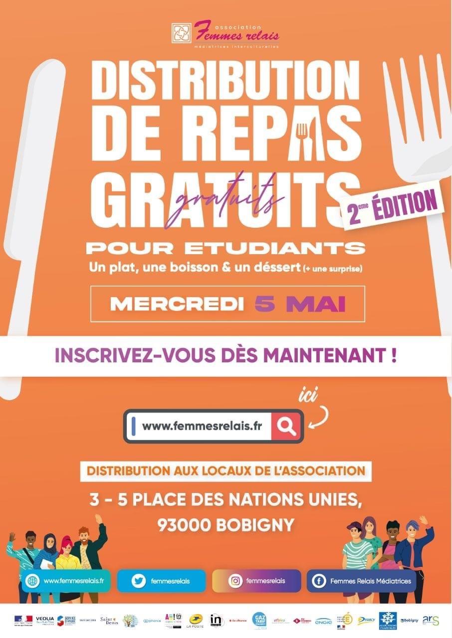 [Étudiants] Distribution gratuite de repas (plat, boisson et dessert) - Bobigny (93)