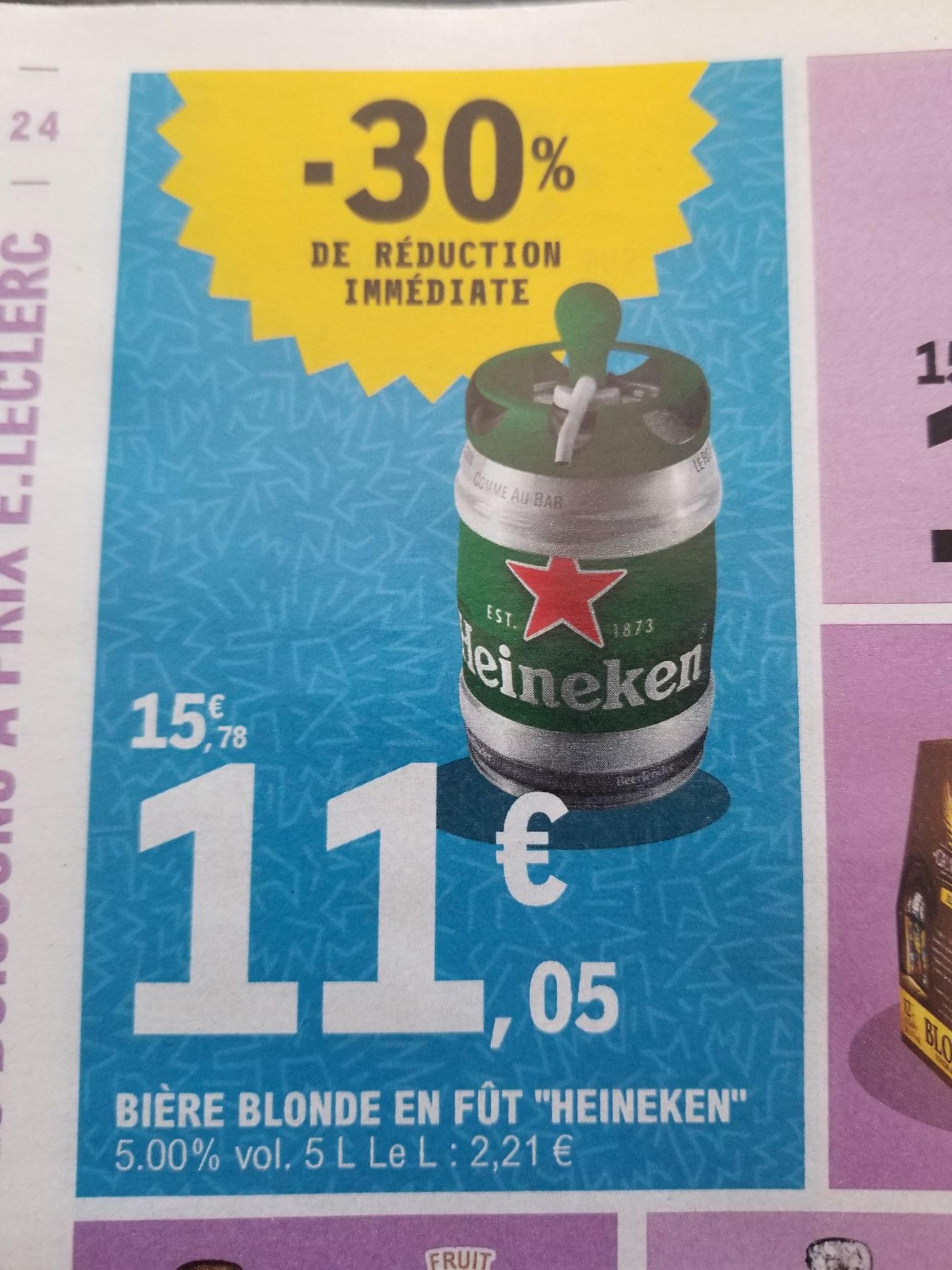 Fût de bière blonde Beertender Heineken - 5 L