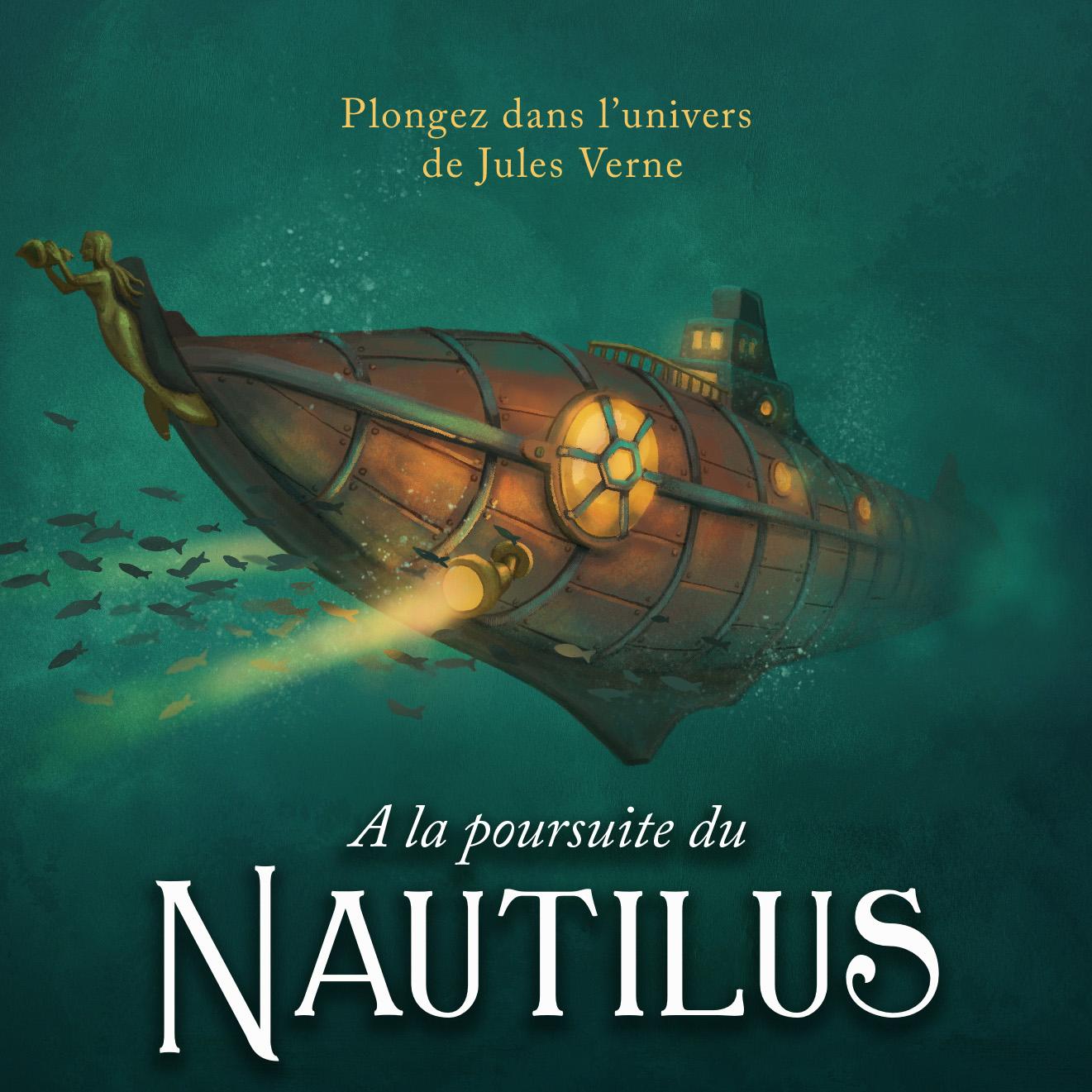 [Pré-commande] Escape game interactif Adios Casa À la Poursuite du Nautilus (scénario + flyer) - Adios-Casa.com