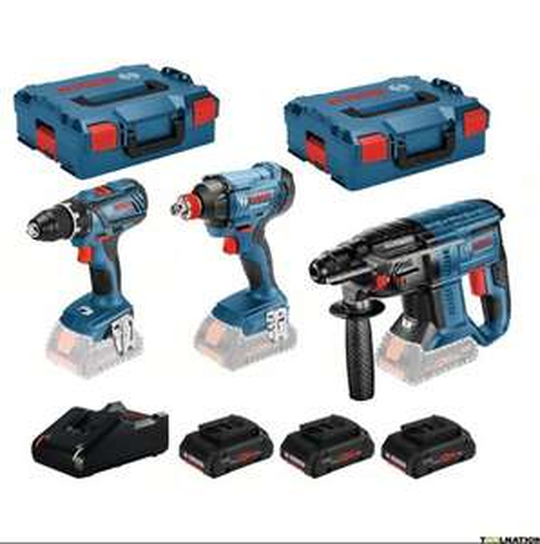 Kit 3 outils Bosch 0615990L57 - 18V - 3 machines + 3 Batteries ProCore 18V 4.0Ah Li-Ion