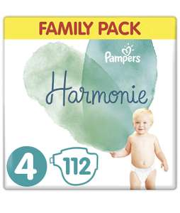 Paquet de 112 Couches Pampers Harmonie - Taille 4