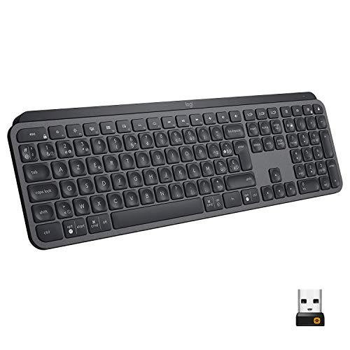 Clavier sans fil Logitech MX Keys Advanced Wireless Graphite (Azerty)