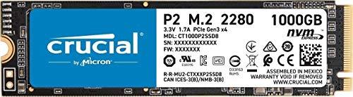 SSD interne M.2 NVMe Crucial P2 (CT1000P2SSD8) - 1To (Vendeur Tiers)