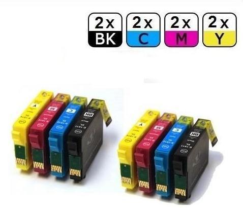 Lot de 8 cartouches d'encre génériques compatibles avec les imprimantes Epson Expression Home