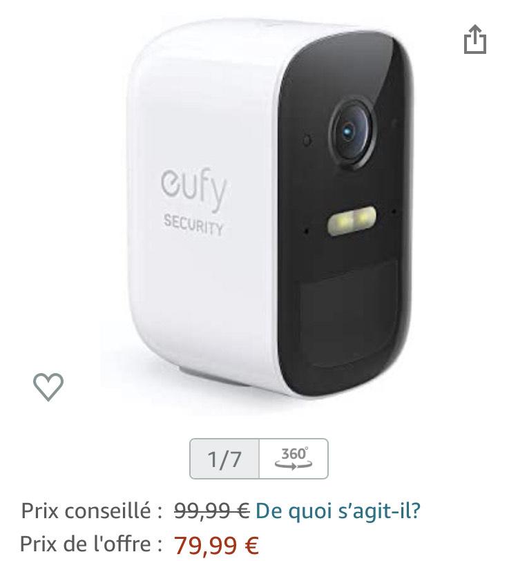Caméra de sécurité sans Fil Eufy Cam 2c (Vendeur Tiers)