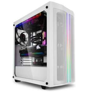 PC fixe gamer Glace - Ryzen 9 5900X, RX 6900XT (16Go), 32 Go RAM (3600 MHz), 1To NVME SSD, WC bequiet!, B550 WIFI, bequiet! 850W Gold, Win10