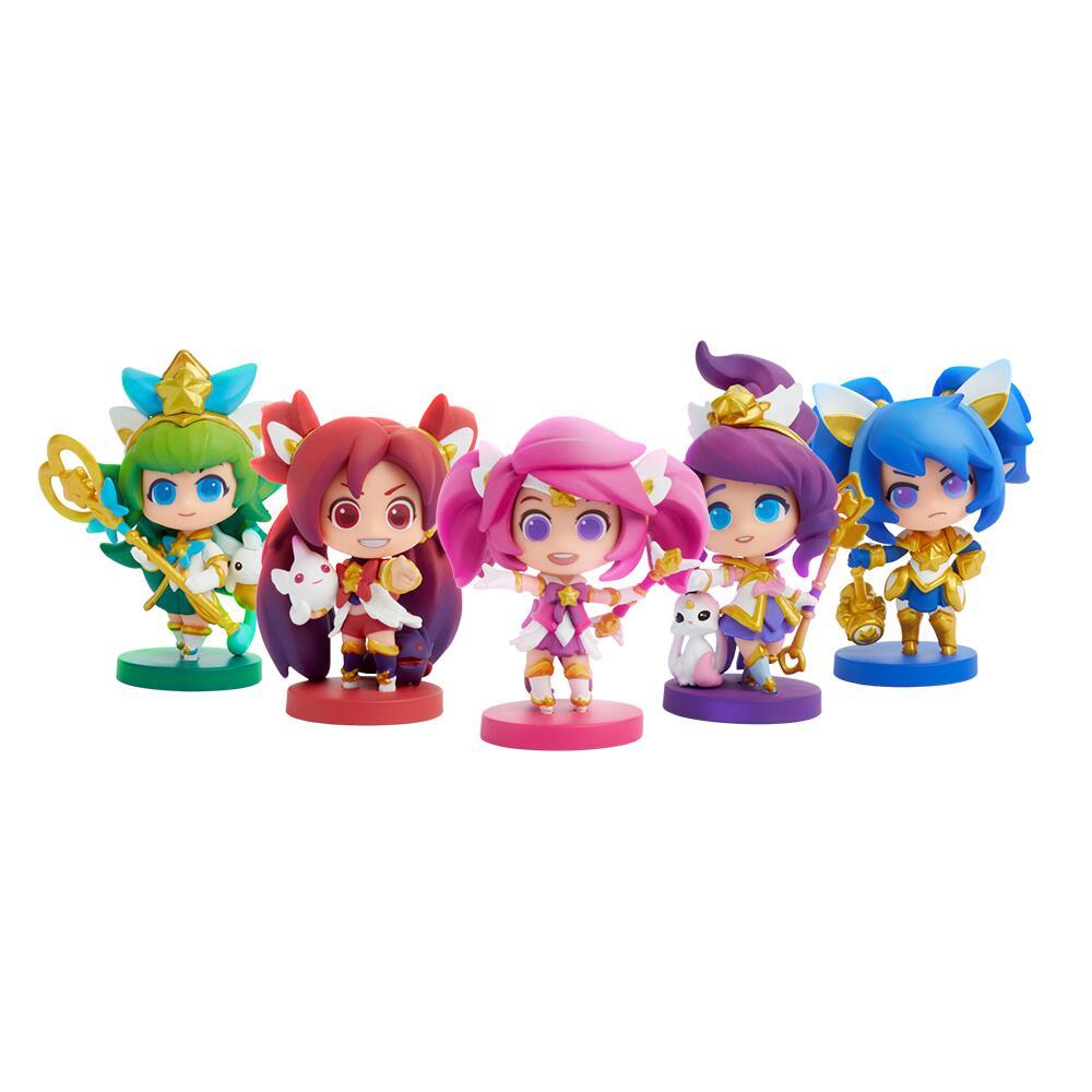 Lot de 5 Figurines Gardiens des étoiles, Édition Mini - Équipe d'origine (riotgames.com)