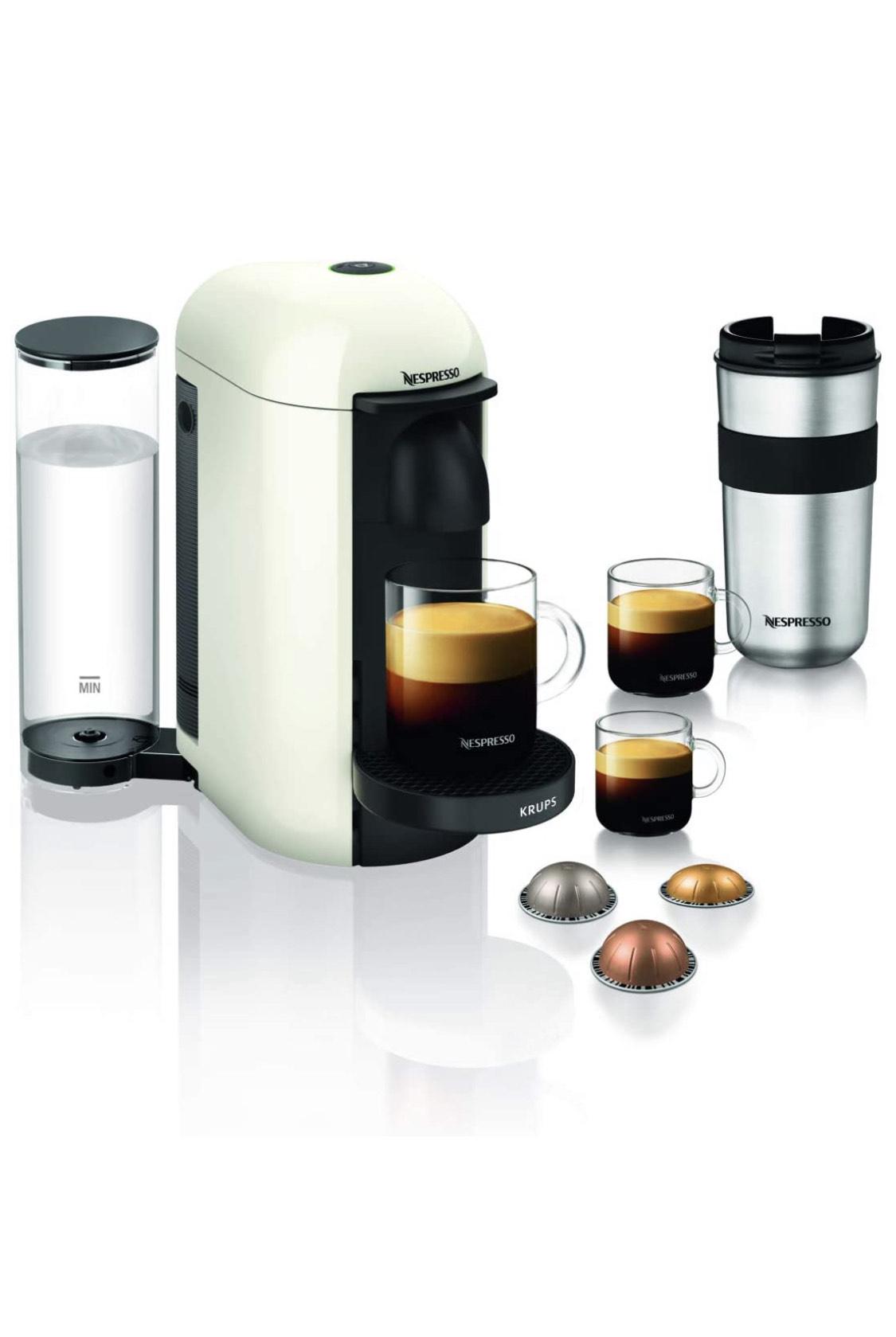 Cafetière à capsules Krups Nespresso Vertuo Plus YY3916D - 1.2L, Blanc