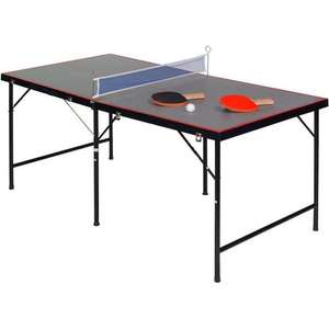 Mini table de ping pong USG - 152 x 76 x 68 cm, 2 raquettes, balles