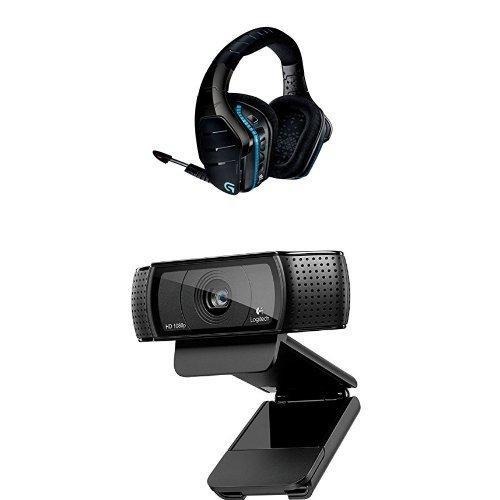 Pack Logitech :  Micro-casque Gaming sans-fil G933 Artemis Spectrum + Webcam Full HD Pro C920