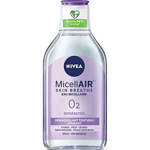 Flacon d'eau micellaire démaquillant tout-en-un Nivea MicellAir Skin Breathe - 400 ml