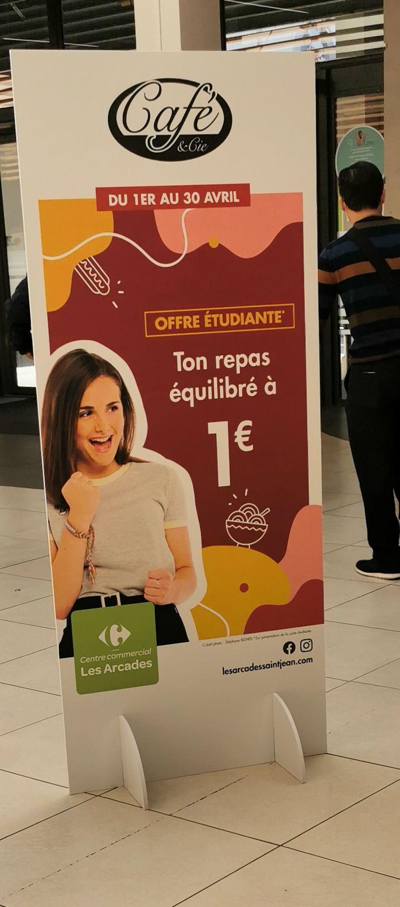 [Étudiants] Repas équilibré à 1€ - Café et Cie St Jean de Védas (34)