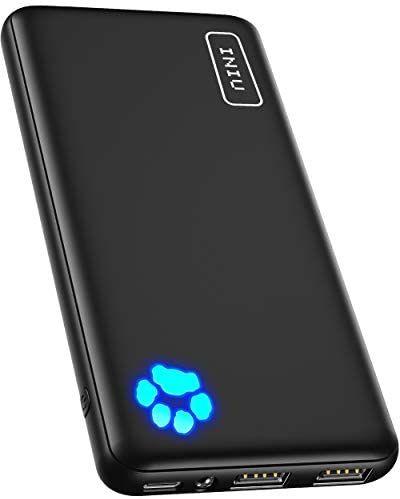 Batterie externe Iniu - 10000 mAh, USB C, triple sortie 3A (Vendeur tiers)