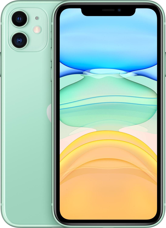 "Smartphone 6.1"" Apple iPhone 11 - full HD Retina, A13, 4 Go de RAM, 128 Go, vert"