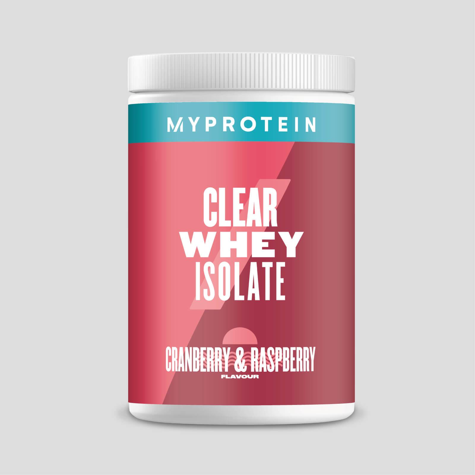 Lot de 2 sachets de protéines MyProtein Clear Whey Isolate Cranberry & Raspberry - 2x20 doses
