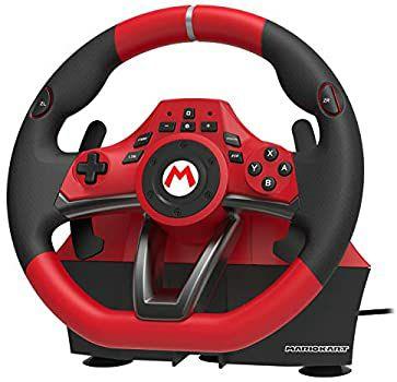 Volant Hori Mario Kart Racing Wheel Pro Deluxe avec pédalier pour Nintendo Switch / PC