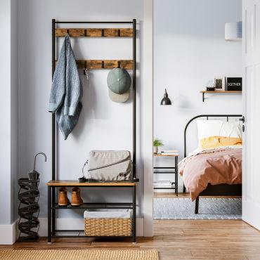 Porte-manteau meuble de rangement au style vintage Vasagle (Vendeur tiers)