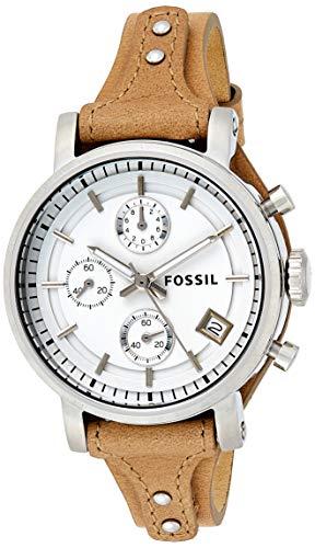 Montre chronographe en cuir femme Fossil Original Boyfriend (ES3625)